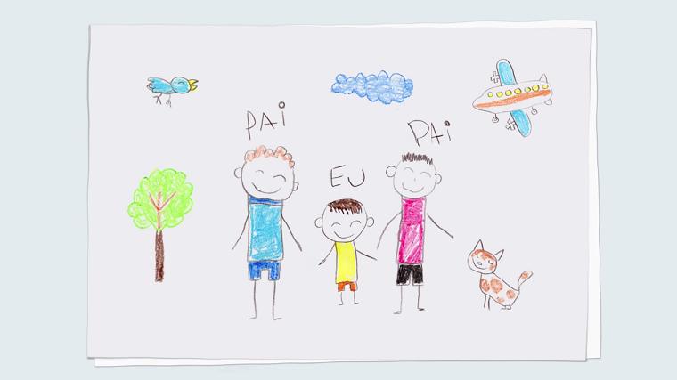 Criancas Montam Desenhos Coloridos Para O Dia Dos Pais No Site Da Tim
