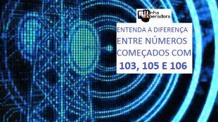 significado dos números 103, 105 e 106