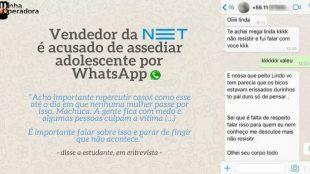 vendedor da NET Claro assedio por WhatsApp