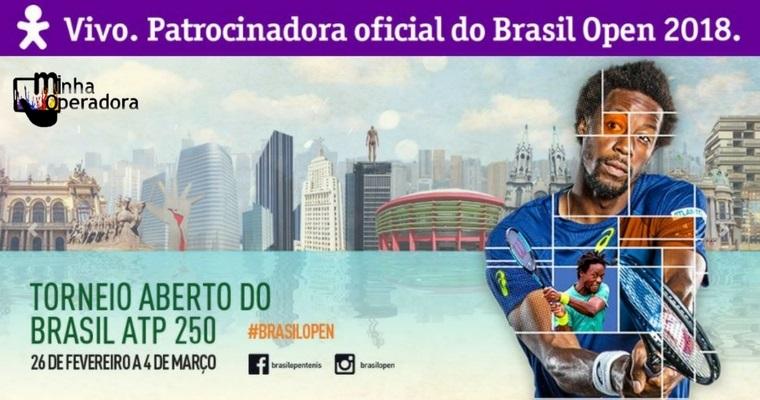 Vivo marca presença no Brasil Open como patrocinadora principal