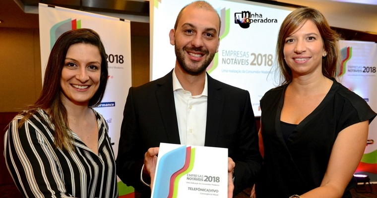 Vivo ganha prêmio no 'Empresas Notáveis de 2018', além de NET e SKY