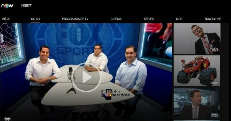 NET acrescenta mais canais para assistir ao vivo pelo NOW