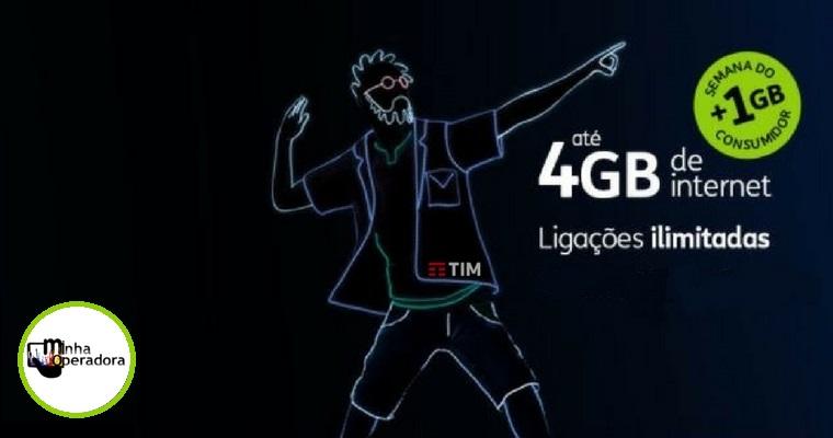 No Dia do Consumidor, TIM oferece 1GB grátis mensal por um ano