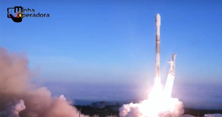 Dez satélites de telecomunicação entram em órbita