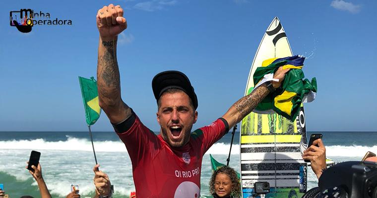Oi bate recorde de conexões em campeonato de surfe