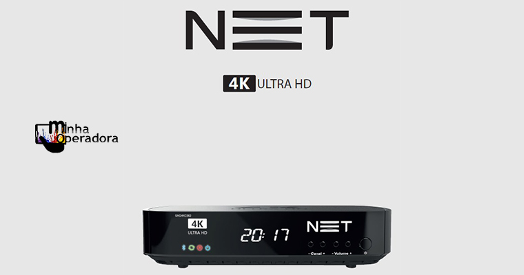 Cliente NET do plano TOP HD pode solicitar novo receptor 4K