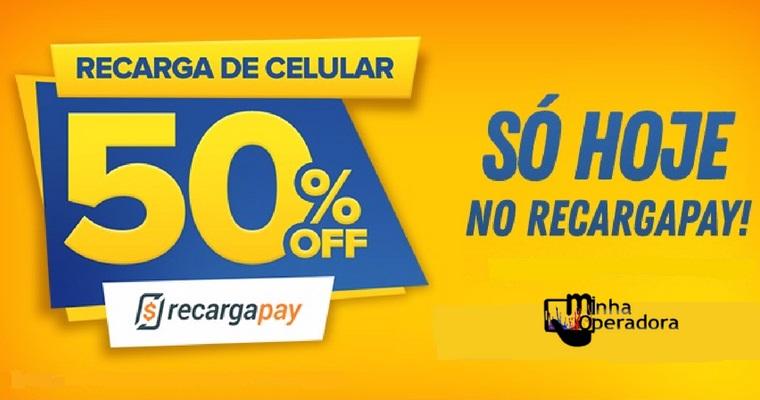 RecargaPay dá 50% de desconto em todas as recargas de celular