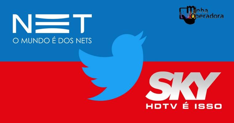 Cliente questiona a NET no Twitter, mas é a SKY que responde