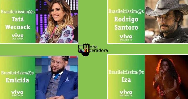 Vivo usa guia de TV para homenagear artistas brasileiros