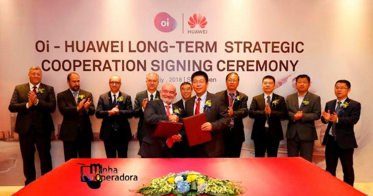 Oi vai à China e firma parceria estratégica com a Huawei