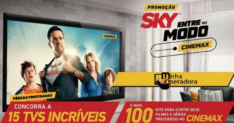 Promoção SKY Cinemax distribuirá 15 Smart TVs e mais 100 prêmios