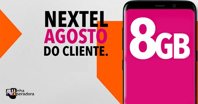 Nextel anuncia oferta de 8GB na portabilidade durante agosto