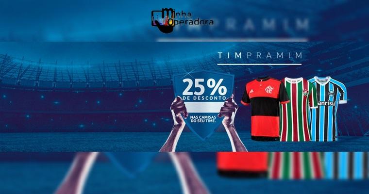 TIM dá 25% de desconto na compra de camisas de futebol