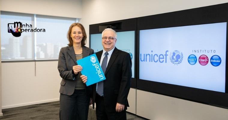 NET, Claro e Embratel fecham parceria com UNICEF