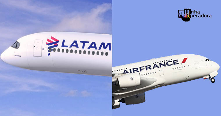 Latam e Air France oferecem conectividade em voos