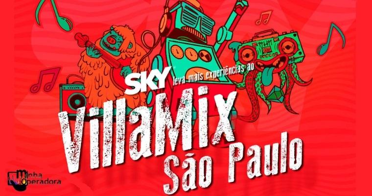 SKY anuncia novidades para o VillaMix Festival deste sábado