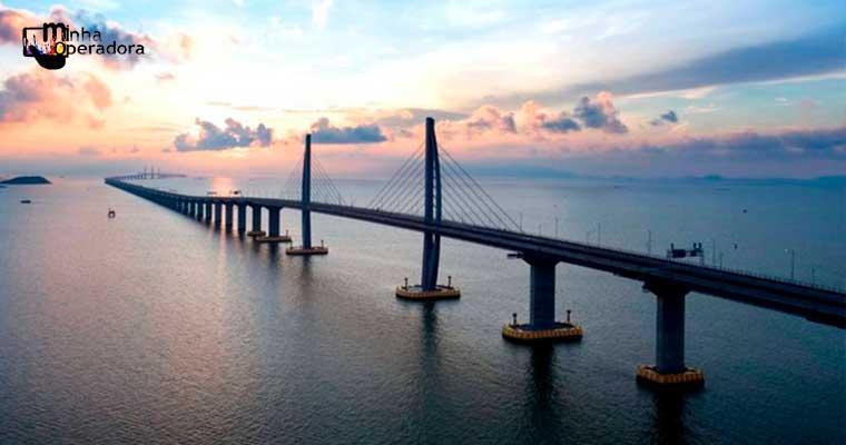 Maior ponte marítima do mundo terá conexão 5G