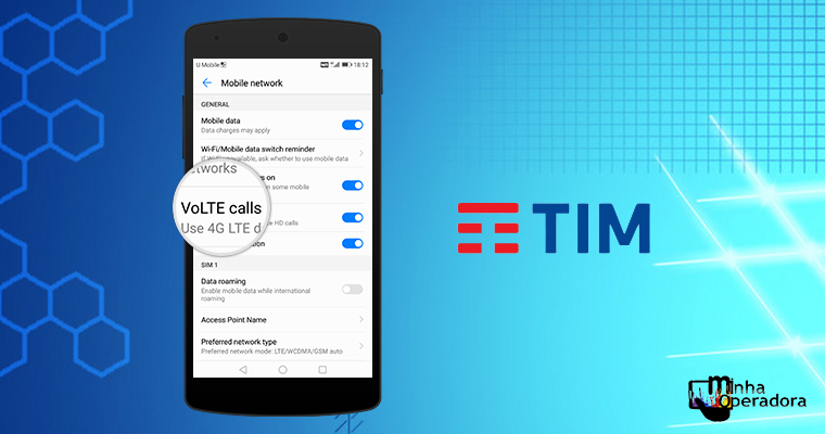 TIM atinge a marca de 10 milhões de clientes utilizando o VoLTE