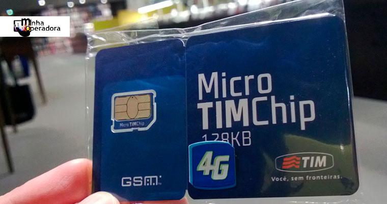 TIM realiza troca gratuita de chip 3G para 4G em novas cidades