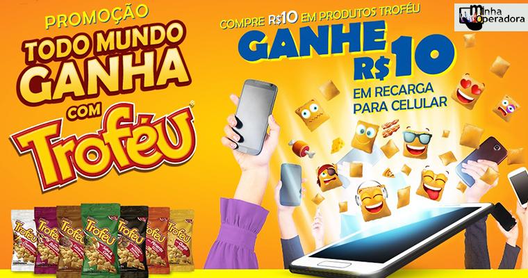 Biscoito Troféu está dando R$ 10 em créditos de celular