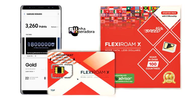 Compre um chip Flexiroam e leve segundo grátis com Samsung Rewards