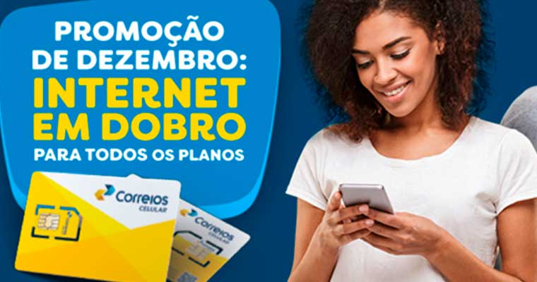 Correios Celular: planos ganham o dobro de internet