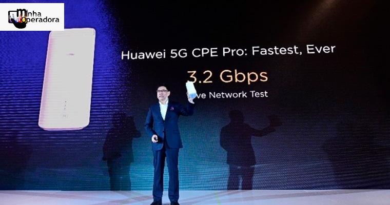 Huawei apresenta seu primeiro roteador doméstico 5G