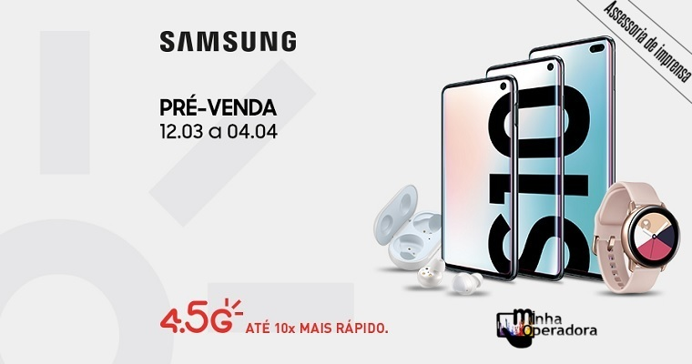 Claro começa pré-venda dos novos Samsung Galaxy S10e, S10 e S10+