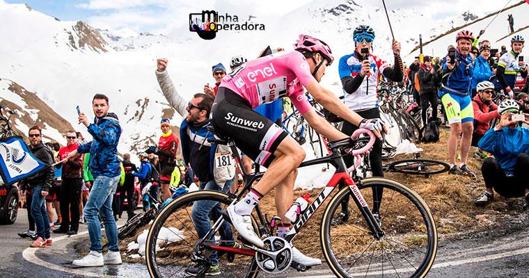 Telecom Italia, dona da TIM, testa 5G no Giro d'Italia 2019