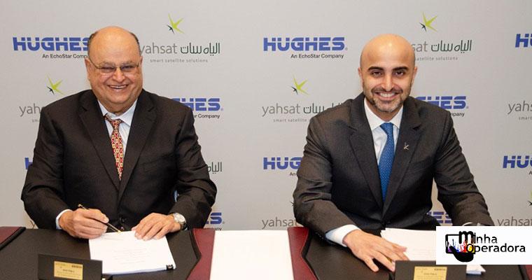 Yahsat e Hughes firmam parceria comercial no Brasil