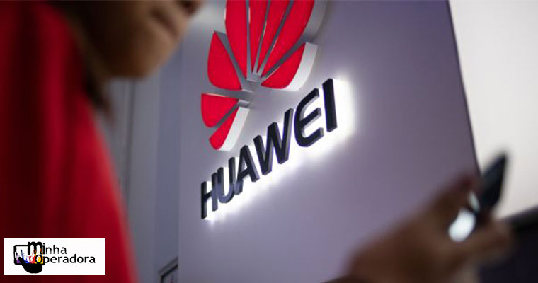 Marca da Huawei em fachada