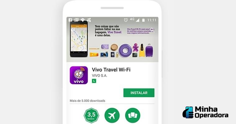tela do aplicativo Vivo Travel WiFi