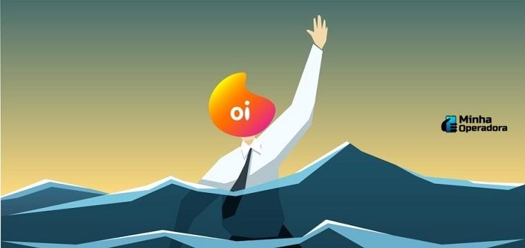 homem se afogando em dívidas - recuperação judicial da Oi