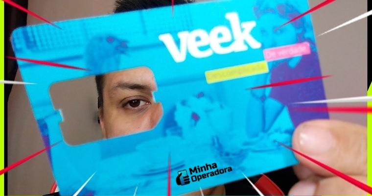 Chip da operadora de celular Veek