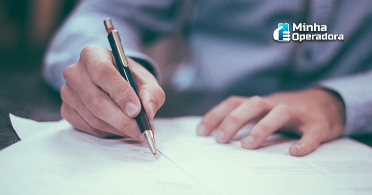 Ilustração - Assinatura de contrato
