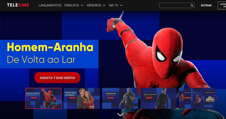 Homepage do Telecine