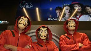 Rica de Marré visita loja da TIM para promover TIM Black com Netflix