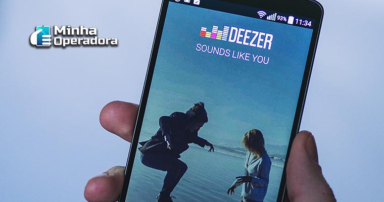 Smartphone com Deezer
