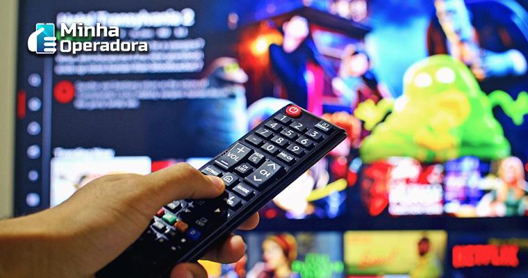 SmarTV com acesso Netflix.