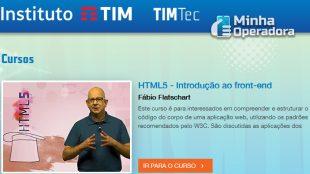 TIM oferece cursos online e gratuitos de TI e Games