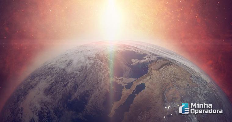 Ilustração planeta Terra