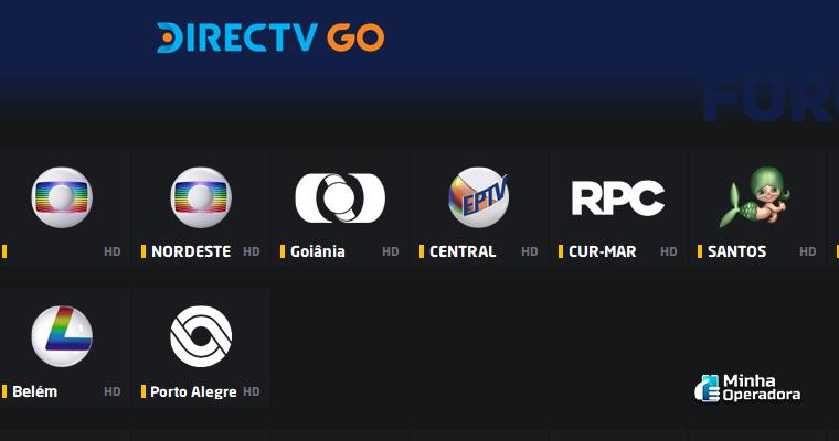 Canais brasileiros no DirecTV Go