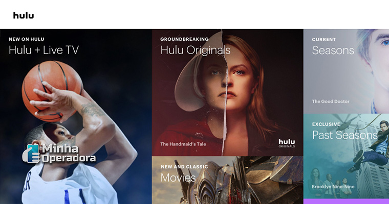 Interface do Hulu