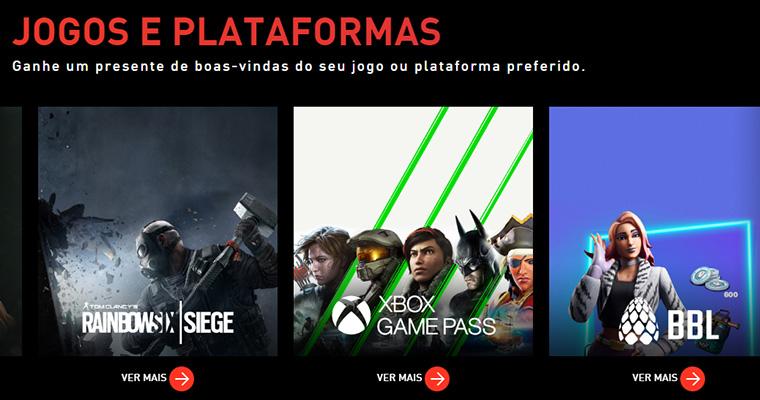 Bônus de boas-vindas do Claro Gaming