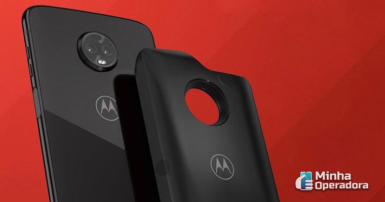 Smartphone da Motorola com o Moto Snap 5G