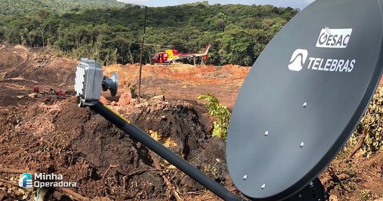 Antena da Telebras em Brumadinho (Minas Gerais). Foto: Divulgação Instagram