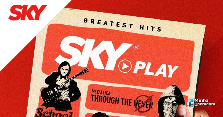 Divulgação do SKY Play nas redes sociais