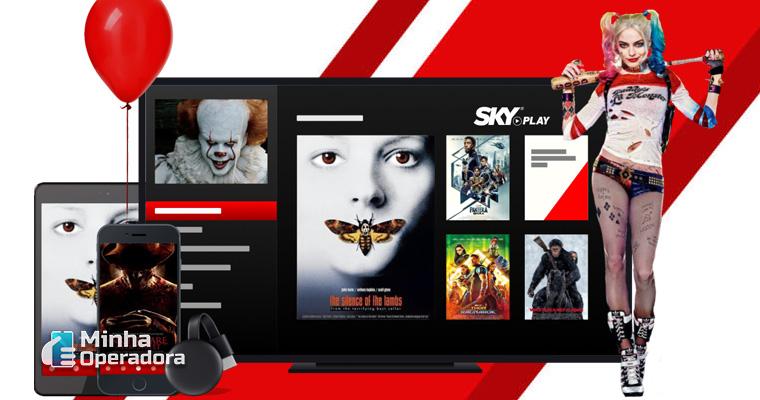Homepage do SKY Play