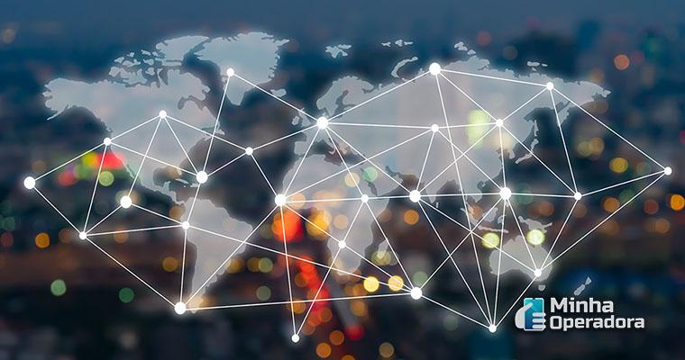 Cidades conectadas. Ilustração