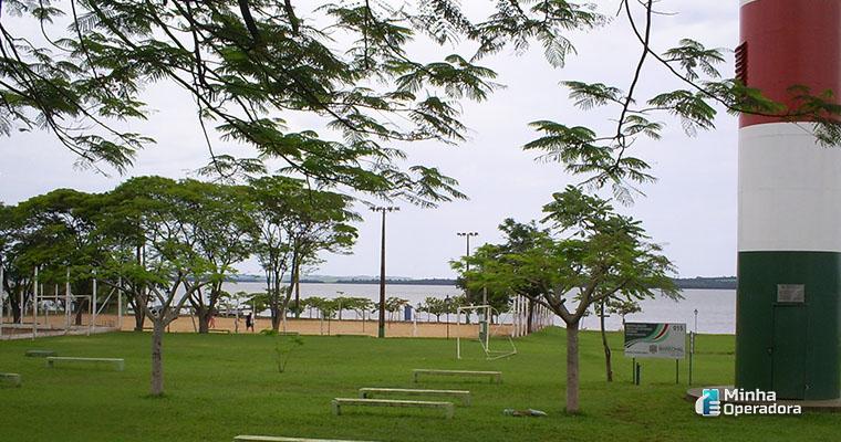 instalação de antena da TIM em Marechal Cândido Rondon